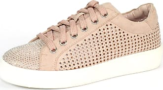 Lunar Norway Rhinestone Lace Up Trainer 7 UK Pink