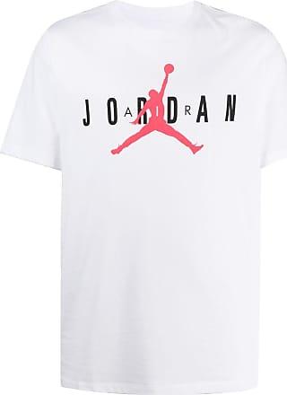 Nike T-Shirt mit Air Jordan-Print - Weiß