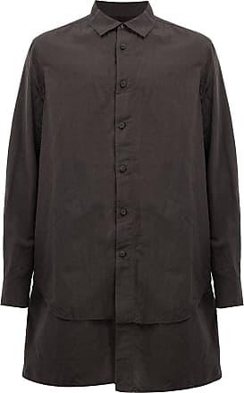Ziggy Chen layered shirt - Brown