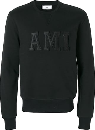 Ami Sweatshirt Patched Ami Letters - Black