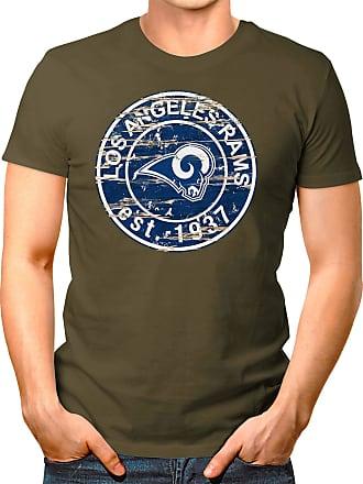 OM3 Los Angeles-Badge - T-Shirt | Mens | American Football Shirt | L, Olive