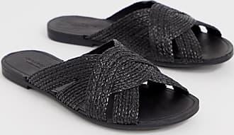 Vagabond Tia - Svarta vävda platta sandaler