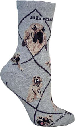 Wheel House Designs Bloodhound Socks In Grey (Large)