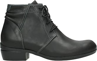Wolky Comfort Lace up Shoes Delano - 50002 Black Leather - 42