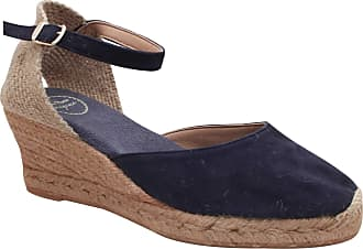 3df40d652 Toni Pons Close Toe Espadrille Wedge Sandal 6 Navy Suede