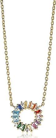Sif Jakobs Jewellery Halskette Antella Circolo - 18K vergoldet mit bunten Zirkonia