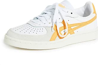Onitsuka Tiger Unisex-Adult GSM Shoes, Size: 6.5 D(M) US, Color: White/Tiger Yellow