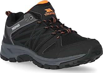 Trespass Fisk Mens Durable Low Cut Hiking Trainers - Black 42