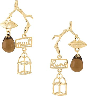 Wouters & Hendrix mouth and birdcage earrings - GOLD