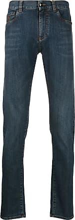 Canali Calça jeans com efeito desbotado - Azul