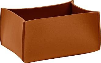 Hey-Sign Aufbewahrungsbox hoch 35x25x16cm - walnussbraun/Filz in 5mm Stärke