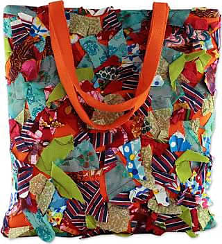 Novica Upcycled cotton shoulder bag, Beautiful Chaos