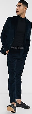River Island skinny suit trousers in blue cord
