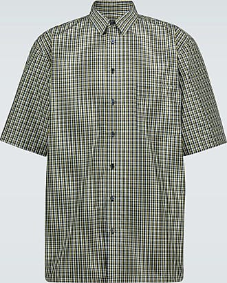 Raf Simons Checked short-sleeved shirt
