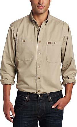 Wrangler Riggs Workwear Mens Logger Shirt,Khaki,2X-Large