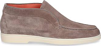 Santoni Classic Ankle Boots 58458 suede grey