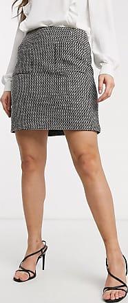 Warehouse mini skirt with pocket detail in multi-Black