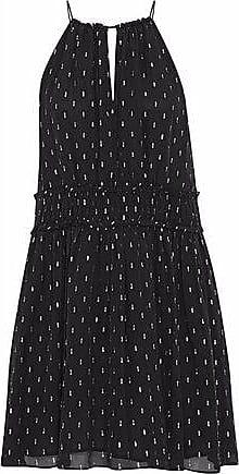Joie Joie Woman Althia B Fil Coupé Silk-blend Georgette Mini Dress Black Size XS