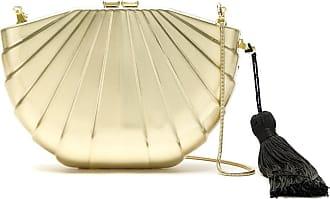 Isla Bolsa clutch metalizada - Dourado