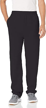 Hanes mensO5995Ecosmart Open Leg Fleece Pant with Pockets Pants - Black - XX-Large