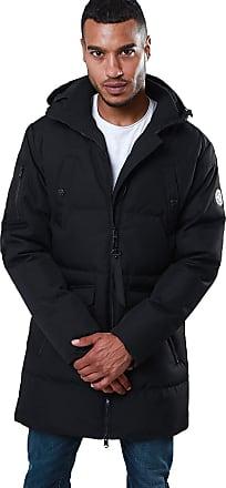 Threadbare Mens Melbourne Padded Jacket Faux Fur Hooded Coat
