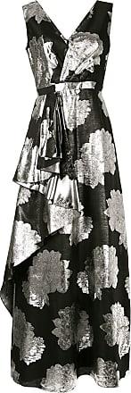 Ingie Paris Vestido floral metálico - Preto