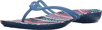 Crocs Womens Isabella Graphic Flip Synthetic Thong Sandals Blue Jean-Geo Size EU 36-37 - UK W4