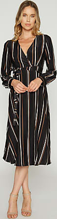 Alloy Apparel Jamie Satin Stripe Midi Wrap Dress Size XL/T