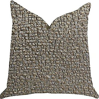 Plutus Brands Moondust Radiance Double Sided Luxury Throw Pillow 26 x 26 Gold/Grey