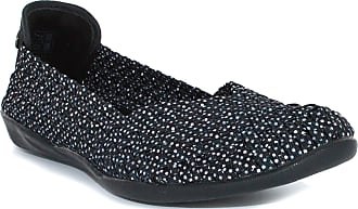 bernie mev. Womens Braided Catwalk Flat (Black Polka Dot, 4)