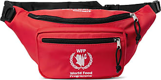 Balenciaga + World Food Programme Logo-embroidered Nylon Belt Bag - Red