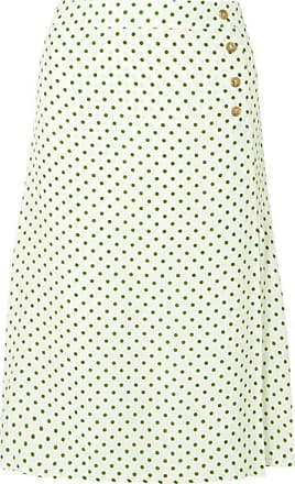 b22bf5b8b Faithfull The Brand Racquel Polka-dot Crepe Midi Skirt - Green