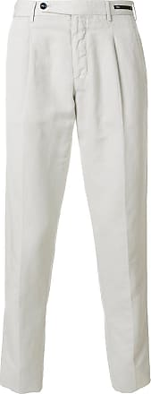 PT01 front pleat chinos - Neutrals