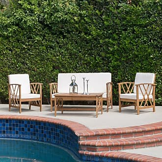 BEST SELLING HOME Outdoor Beach Way 4 Piece Conversation Set with Cushion - 296131