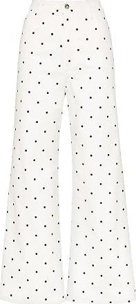 Eve Denim Calça jeans de poá Charlotte - Branco