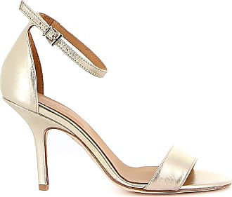 Dondup Metallic Leather Sandals, 39 Rose Gold