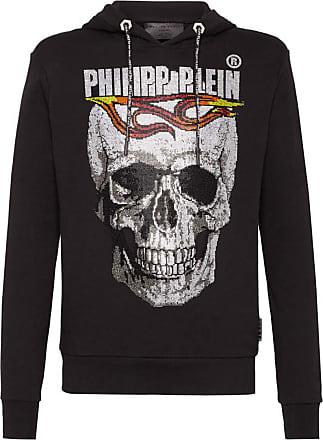 Philipp Plein Hoodie Sweatshirt Flame (Large) Black