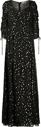 Diane Von Fürstenberg Vestido longo Bellona metalizado - Preto