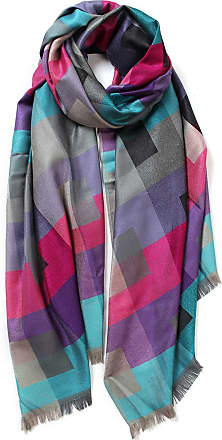 Your Dezire Cool Grids Patterned Printed Scarf Large Shawl Winter Scarf Celebrity Style Wraps (Red/Blue)