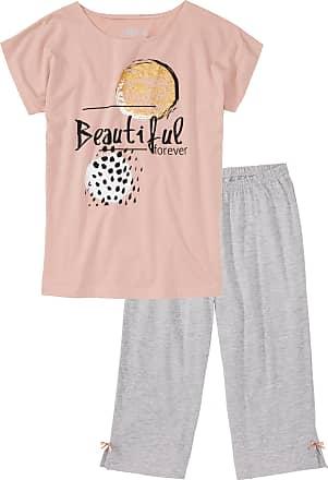 Bonprix Dam Pyjamas med capribyxor i rosa kort ärm - bpc collection c651b852f4cc3