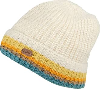 KuSan Hats Turn Up Cuff Knit Beanie Hat - Cream-Multi 1-Size