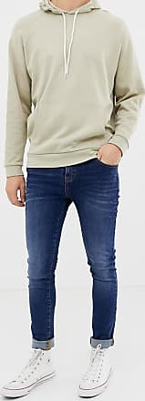 LDN DNM super skinny spray on jeans in washed indigo-Blue