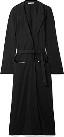 Skin Odiane Organic Pima Cotton-jersey Robe - Black