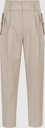 Reiss Marta - Front Pocket Tapered Trousers in Grey, Womens, Size 12