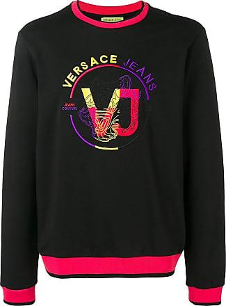 58e5600ea3c6 Versace Jeans Couture sweat à logo contrastant - Noir