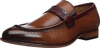 Stacy Adams Mens Sussex MOC Toe Slip-ON Loafer, Cognac Multi, 7 M US
