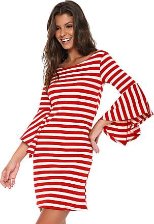 Nolita Lace Vestido Nolita Curto Listrado Vermelho