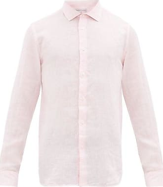Orlebar Brown Giles Linen Shirt - Mens - Pink