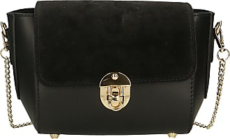 Chicca Borse Aren - Woman Shoulder Bag in Genuine Leather Made in Italy - 26x18x10 Cm