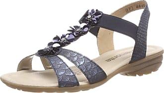 Remonte Womens R3633 T-Bar Sandals, Blue (Royal 14), 6.5 UK